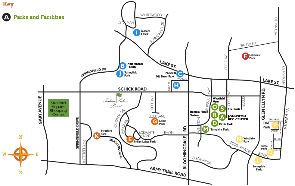 Parks and Facilities Map