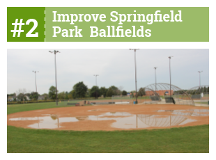 #1 Improve Springield Park Ballfields